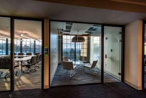 Mimecast's glass wall private office space